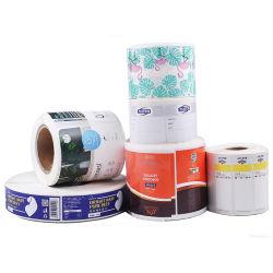 제조업체 사용자 지정 방수 광택 접착성 PVC 음식 라벨 스티커 인쇄
