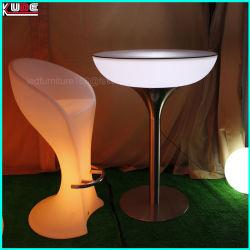 أثاث LED/أثاث مضاء طاولة مستديرة من المصنع مع قاعدة معدنية