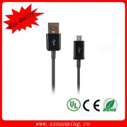 USB Data Charging Cable Colorful de 1m Micro para USB Cable de Samsung HTC/Blackberry Cell Phone V8