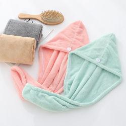 Microfiber Haar-Tuch, Haar-trocknende Tücher, Verpackungs-Turban, super saugfähiges u. weiches Haupttuch für Haar