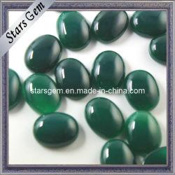 Forma Oval color esmeralda Semi-Precious Ágata piedra