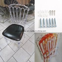 Banquetes Claro Transparente Plexi Napoleón sillas de resina