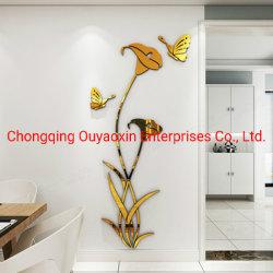 Flor de lírio esverdeado Luxo Arte Moderna de Nova chegada adesivo de parede