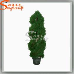 Ome decoración mayorista hermoso árbol artificial de plástico Topiary Bonsai