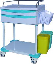 ABS Utility Treatment Cart Klinischer Wagen mit Medizin-Behälter
