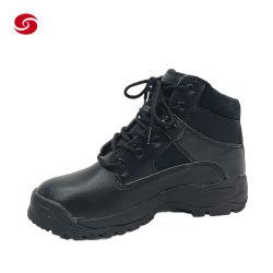 Noir en cuir de la Police de combat tactique militaire armée de Terre des Hommes devoir Boots
