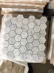 Heißer Verkäufer-natürliche weiße Marmorhexagon-Mosaik-Fliese für Küche Backsplash