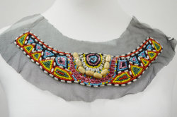 Colorido Woodbeads escote, Necktrim, collar