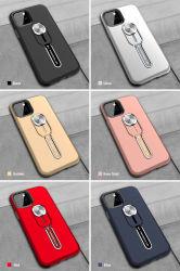 2019 Hot Vente de l'anneau en silicone hybride PC TPU Metal béquille Téléphone Étui pour iPhone Tous les modèles de