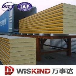 Rivestimento della parete dell'isolamento termico delle lane di PU/EPS/Rock e pannello a sandwich del tetto per la costruzione della struttura d'acciaio