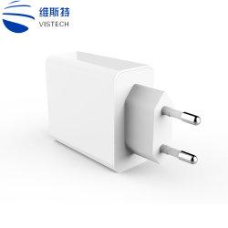 De dubbele Lader van de Muur USB van de Lader van de Auto Cellphone van Havens USB 5V 1.2A Multi Snelle