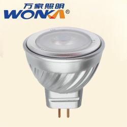 إضاءة LED من الألومنيوم بتبديد الحرارة بسرعة 2.5 واط Ba15/MR11