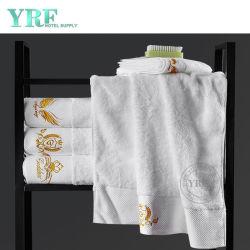 ロゴの白いホテル100%のエジプト綿の浴室タオルの柔らかいジャカードタオルの浴室