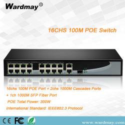 16HSC única fibra Port Switch POE (única porta de fibra SFP)