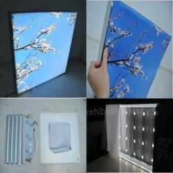 Tejido de LED en forma de L Lightbox para publicidad comercial stand de exhibición de equipos de pantalla
