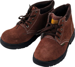 Schoenen van de Veiligheid van de Teen van het Staal van pvc van het Leer van het suède de Hogere Enige