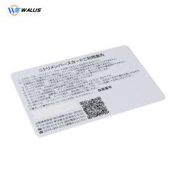 顧客用0.76mmの厚さ85.4mm*54mmのバーコードのQrコードプラスチックカード