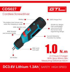 Tournevis sans fil, mini tournevis électrique 3.6V batterie lithium-ion rechargeable de Jeu de forets électriques sans fil