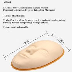 Высококачественный 5D-силиконового герметика на лице практика постоянного макияжа и татуировки кожи презентационный манекен