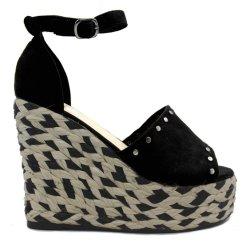 Mode féminine haut talon Mesdames les chaussures en cuir sandales de plate-forme