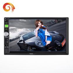 Handboek van de gebruiker 2 DIN 7660 VideoSpeler van de Auto van de Controle van het Wiel van het Staal van de Link van de Spiegel van de Speler van de Auto de Audio Slimme met de Speler van de Auto van de Camera USB/Aux/TF Vlc Apk MP5