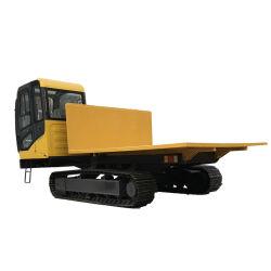El vehículo de transporte oruga realiza un seguimiento de vehículo de transporte para Ingeniería Agrícola