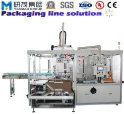 De automatische Verpakkende Machine van de Verpakking van het Geval van de Doos van het Karton met het Oprichten van het Verzegelen het Palletiseren