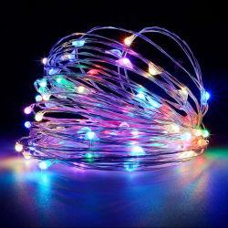 5V 1m~100m de fil de cuivre de décoration extérieure LED lumière chaîne USB