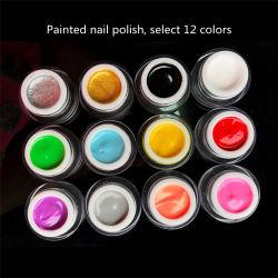 塗られたゴム製ゼリーのゲルの環境のPhototherapyカラー接着剤はPhototherapyの紫外線釘オイルのゲルセットを塗った
