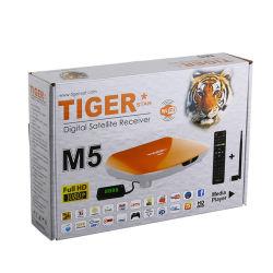Gesetzter Spitzenkasten des Tiger-M5 geben frei, um Digital-Satellitenempfänger zu lüften