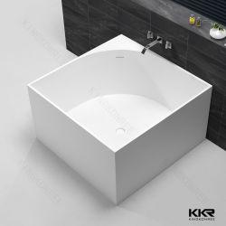 Pierre Surface solide blanc mat et brillant rond Carré bain autostable