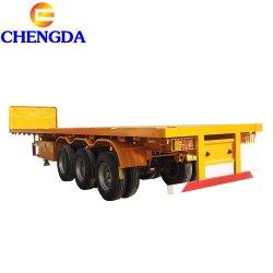 3 camion di rimorchio piano della piattaforma dell'asse 40feet per uso del contenitore
