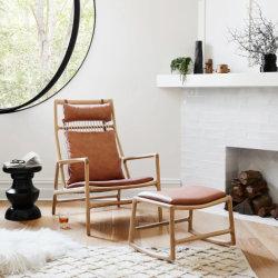 Moden 고전 나무로 되는 거실 사무실 라운지용 의자를 식사하는 목제 다리 의자 대중음식점