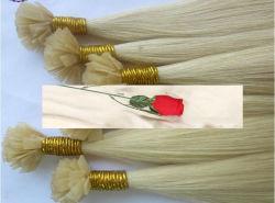 Flache gespitzte Schmelzverfahrens-Haar-Extensionen/flache Spitze-vor geklebte Haar-Extensionen