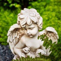 Beauty Garden Cherub Angel met Squirrel Statue handgemaakte Polyhars Crafts