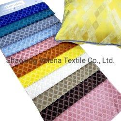 Alta qualidade em casa de revestimento de poliéster Têxteis Tecidos Jacquard de veludo Design verificações para sofá tecido almofadas