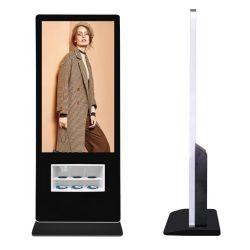 43 インチフロアスタンドワイヤレス充電キオスクおよび有線ケーブル ビデオプレーヤー用 USB 充電ステーション LCD ディスプレイ
