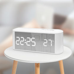 Grande visor electrónico digital/desktop/Mesa Relógio de Alarme com soneca e funções de memória