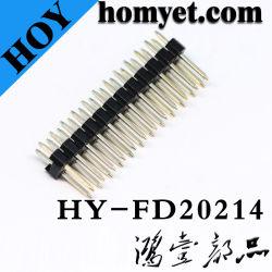 Les ventes à chaud de 2,0 mm de hauteur barre de coupe droite, double rangée de la broche mâle du connecteur de barre de coupe
