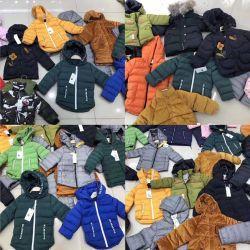 Misture o Design de mistura de cores crianças túnicas Cotton-Padded Moda roupas de inverno de estoque (HY1921)