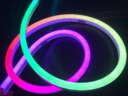 Custom IP67 Faixa de Tubo de corda de luzes ultra fino Mini Linear exterior 24V Pixel RGB LED Neon Flex