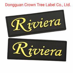 Riviera Customizede название торговой марки логотип ПВХ/силикон наклейки для одежды