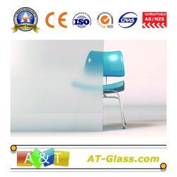 5mm 6mm Zuur Geëtstn Glas dat voor Badkamers/de Bouw wordt gebruikt