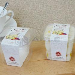 形の創造的でかわいいデザートが付いている高いQuanlity PPの使い捨て可能なケーキの容器のプラスチック包装のケーキのコップ
