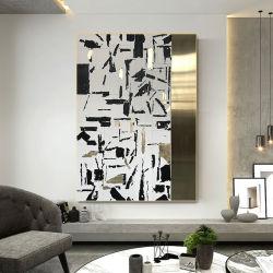 Handbemalt 3D abstraktes Ölgemälde Wohnzimmer Sofa Hintergrund Dekoration Malerei Moderne Einfache Licht Luxus Veranda Modell Zimmer Hängend Malen