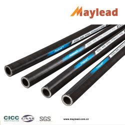 Quatre couches de fil en acier haute résistance en spirale du tuyau flexible hydraulique