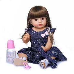 Doll van de Baby van het Speelgoed van het Meisje van de Peuter van Herboren Doll van het Silicone van het Lichaam van 55cm Volledige Zachte Pasgeboren Vinyl met Toebehoren