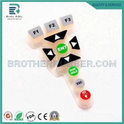 Chinesische Fabrik kundenspezifische Produktion niedrige Widerstand-Kohlenstoff-Pille-der leitenden Silikon-Gummi-Tastatur-Tasten und der Schlüsseltastaturblöcke