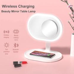 Smart Carregamento sem fios do alto-falante Bluetooth Beleza Espelho LED horas de trabalho da lâmpada LED decorativas vaidade espelho de maquiagem com luz de Modelo C