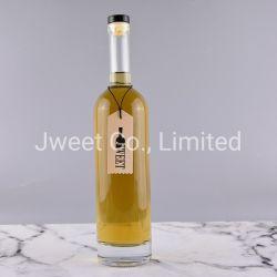 750ml personalizadas Serigrafía redonda transparente para el licor botellas de vidrio vacía